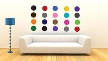 Color dots wall sticker