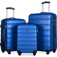 3 Piece Lightweight Spinner Suitcase Set Merax Expandable Luggage Sets with TSA Locks Black2020