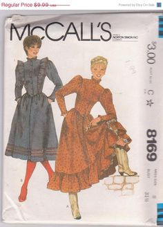 SALE Vintage 1980s sewing pattern for western by beththebooklady, $7.99