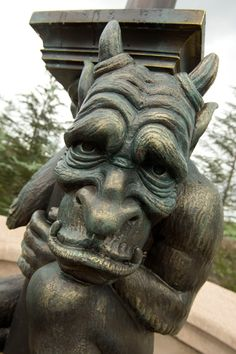 Gargoyle. Were placed for protection as evil would see it, and believing the presence of evil was already there, would then move on. They were used for protection.