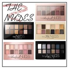 """""""THE NUDES"""" by dream-create on Polyvore featuring beauty, Bobbi Brown Cosmetics and Maybelline"""