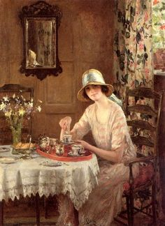 Afternoon Tea by William Henry Margetson.