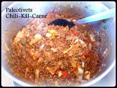 Paleo Chili con carne er blevet til Chili-kål-carne