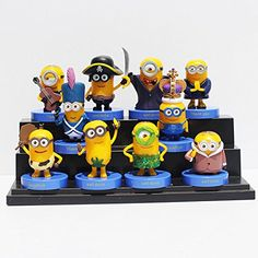 10 Piece / Set Despicable Me Minions Cosplay PVC Toys Figure Model Toy Size 4-7cm @ niftywarehouse.com