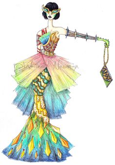 Awesome fashion inspired by the Spiny Flower Mantis! DNMT August- SpinyFlowerMantis