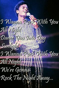 Rock with you ~ Michael Jackson. I love this song:))
