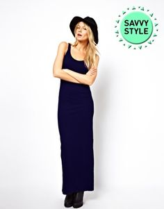 Image 1 of ASOS Maxi Dress With Back Split