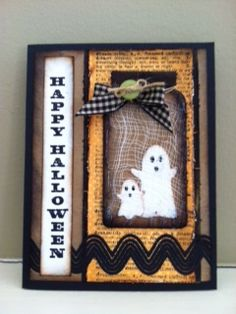 "Mb halloween card....""we have ""Boo""ks for you"