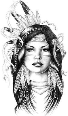 Explore collection of Native American Indian Drawings Native American Drawing, Native American Tattoos, Native Tattoos, Native American Girls, Native American Paintings, American Indian Art, Indian Paintings, American History, Native American Symbols