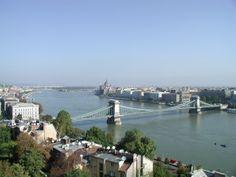 the Chain Bridge over the Danube.