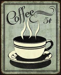Retro Coffee I Art Print by N. Harbick at Art.com