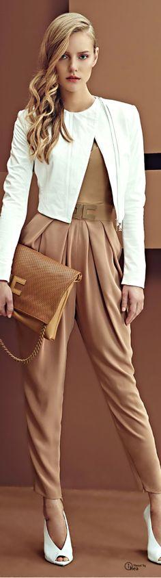 Elisabetta Franchi - SS 2014 women fashion outfit clothing style apparel @roressclothes closet ideas