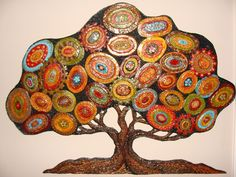 Polymer Clay tree wall art by LaurelTreeStudio on Etsy