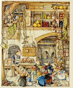 Jill barklem Sneeuw illustration by Jill Barklem (Brambly Hedge) Art And Illustration, Book Illustrations, Beatrix Potter, Brambly Hedge, Whimsical Art, Hedges, Illustrators, Fantasy Art, Fairy Tales
