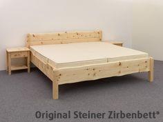 Zirbenbett Hohenschwangau Einzelbett Massivholzbett | Zirbenbett ...