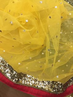 #yellow #saree #sequins #handwork #designer For purchase inquiry please mail at info_ppu@yahoo.com