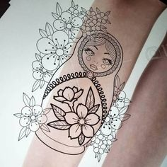 japanese tattoos designs and meanings Japanese Tattoo Art, Japanese Tattoo Designs, Japanese Sleeve Tattoos, Leg Tattoos, Flower Tattoos, Body Art Tattoos, Mermaid Tattoo Designs, Mermaid Tattoos, Russian Doll Tattoo