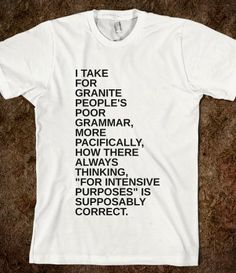 People's Grammar T-Shirt from Glamfoxx Shirts