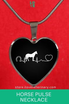 Friesian Horse ArtDog Necklace Silver Plated Horse Pendant on a Snake Chain