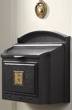 Enjoy mail delivery right by your door with the Monogrammed Wall-mount Mailbox.