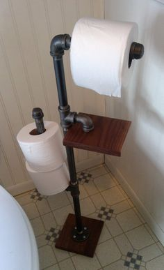 All Details You Need to Know About Home Decoration - Modern Rustic Toilet Paper Holders, Toilet Paper Stand, Toilet Paper Roll Crafts, Industrial Toilets, Rustic Toilets, Industrial Bathroom, Ideas Baños, Room Ideas, Kitchen Roll Holder