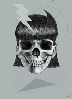 RAYLAU Gritty Skull graphics: http://skullappreciationsociety.com/raylau/ via @Skull_Society
