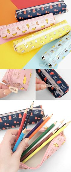 Love it! This pen case has super cute illustrations of my favorite food! Just perfect for carrying my favorite pens anywhere I go!