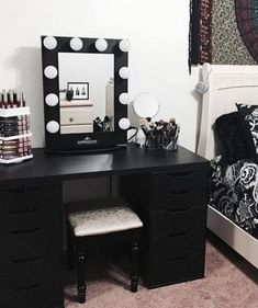 bedroom vanity desk makeup case