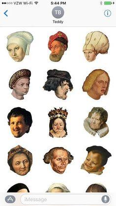 www.❤🌉.ws San Franciscoji Spots Emoji News: #sanfranciscoji #emojinews Centuries-Old Dutch Renaissance Faces Make Hilarious New iPhone Emoji #dutchrenaissance #funnyfaces
