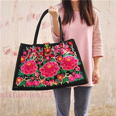 Yunnan Ethnic Embroidery Handbags-256