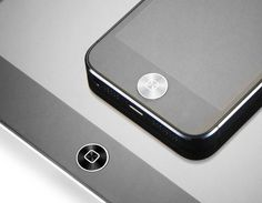 Anodized Aluminum Home bouton for iPhone and iPad