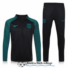 78573daf8 High Quality Barcelona FC 2016 2017 Newest Kids Tracksuits Warm Green Black  Customised Uk Online