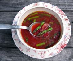beets beets and more beets. i love beets & this soup is amazing. i have made it a couple times. great detox & refresh.
