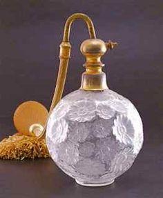 "1925 R. Lalique ""Fleurs"" Atomizer, so pretty"
