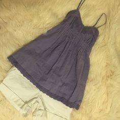 ✨KIRRA Purple Babydoll Top✨ Lace detail on bottom. Rarely worn. Kirra Tops Tank Tops