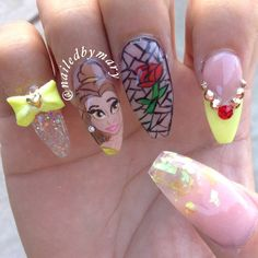 Belle Inspired Nails