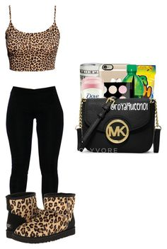 """""""Animal Print"""" by queen-miy ❤ liked on Polyvore featuring H&M and UGG Collection"""