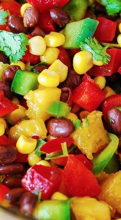 Southwestern Salsa with Black Beans, Corn, and Pineapple...