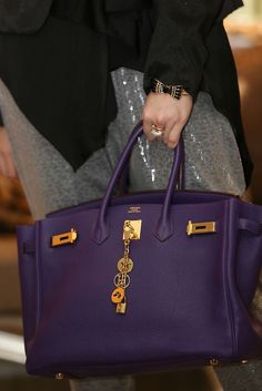 Purple Birkin aka heaven on your arm | Accessories freak ...