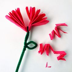 I've been a homebody lately, puttering around the house soaking up the sunshine and happy things. I've been dabbling with needle and thr. Kids Crafts, Diy And Crafts, Paper Crafts, Tissue Paper Flowers, Diy Flowers, Flower Making, Origami, Happy Things, Cross Stitch