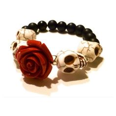 Items similar to Dia De Los Muertos Bracelet (Day of the Dead... ❤ liked on Polyvore featuring jewelry and bracelets