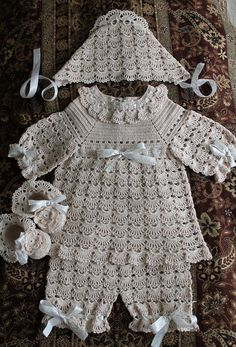 Crochet Designs Free: set baby crochet with lovely pattern