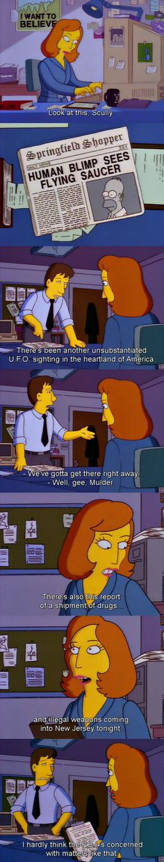 The X-Files: Mulder and Scully on The Simpsons