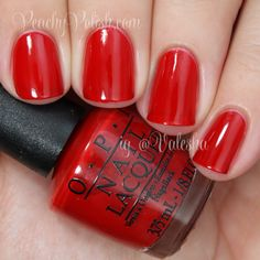 "OPI ""Big Apple Red"" - Peachy Polish"