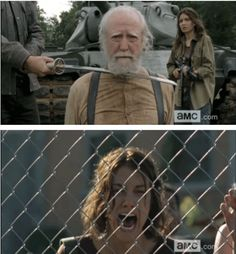 "I reacted pretty much the same as Maggie when the ""Hershel moment"" happened."