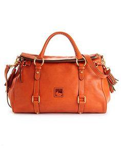 Dooney & Bourke Handbag, Florentine Vaccheta Satchel - Dooney & Bourke - Handbags & Accessories - Macy's - Top tip: Click pics for best price Fashion Handbags, Tote Handbags, Leather Handbags, Leather Bags, Beautiful Handbags, Beautiful Bags, Cute Purses, Purses And Bags, Big Bags