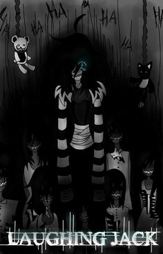"""gives you the chills if u know the story. Both of his stories """"the orginal laughing jack"""" and """"laughing jack"""""""