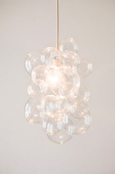 Custom Clear Glass Bubble Chandelier Art By door TheLightFactory