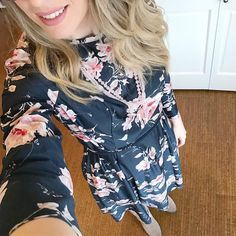 Loving this vintage #darkfloral dress I snagged at @shwop  Wore it to @themobnw Conference today with a pair of tall suede boots  these ladies are all my gal crushes #ootd