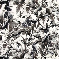 Jersey In Bloom 2 - Viskose - Elasthan - hellbeige